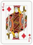 Jack of diamonds. Playing card Stock Photos