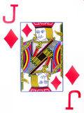 Jack of Diamonds. A close up on the jack of diamonds Royalty Free Stock Photography