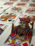 The Jack Of Diamonds. Actually stands out from the rest of the deck stock photo