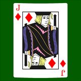 Jack diamonds. Card suit icon vector, playing cards symbols vector stock illustration