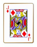 Jack Diamonds Isolated Playing Card Photographie stock libre de droits