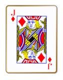 Jack Diamonds Isolated Playing Card illustration stock