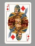 Jack of diamonds playing card Stock Photos
