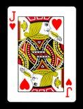Jack do cartão de jogo dos corações, Imagem de Stock Royalty Free