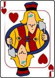 Jack dos corações Imagens de Stock Royalty Free