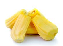 Jack-Früchte auf weißem Hintergrund Stockfoto