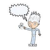 Jack frost cartoon with speech bubble Royalty Free Stock Photos