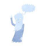 Jack frost cartoon with speech bubble Royalty Free Stock Images