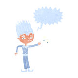 Jack frost cartoon with speech bubble Stock Photography