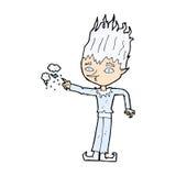 jack frost comic cartoon Royalty Free Stock Photos