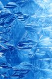 Jack Frost ice patterns. Abstract ice patterns on window Royalty Free Stock Photography