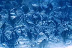 Jack Frost ice patterns. Abstract ice patterns on window Stock Photo