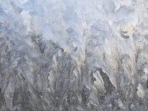 Jack Frost ice on window pattern. January 2017. Photo taken inside house royalty free stock image