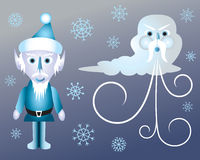 Jack Frost and Old Man Winter Royalty Free Stock Photography