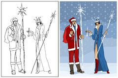 Jack Frost & Snow Queen Royalty Free Stock Photos