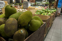 Jack fruit. A big box of jack fruit in a super market Royalty Free Stock Image