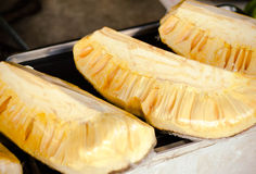 Jack fruit in cover up  on asian market.  Royalty Free Stock Photography