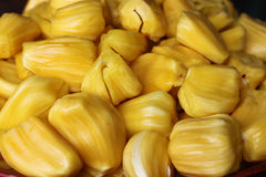 Jack fruit on market. Color yellow Stock Image
