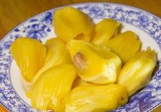 Jack fruit, jack fruit pulp flesh with seed Stock Photo