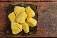 Jack fruit serve on plate Royalty Free Stock Images