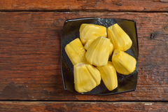 Jack fruit serve on plate Royalty Free Stock Photo