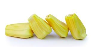 Jack-frutas frescas en el fondo blanco Imagen de archivo