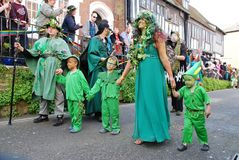Jack In The Green ståtar, Hastings Royaltyfri Bild