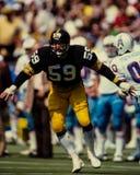 Jack Ham Pittsburgh Steelers. Pittsburgh Steelers Hall of Fame LB, Jack Ham #59.(Image taken from color slide Royalty Free Stock Images