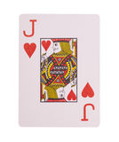 Jack of hearts playing card on a white Royalty Free Stock Photography