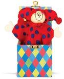 Jack in het stuk speelgoed van de dooskinderen op een witte backgroun Royalty-vrije Stock Foto's