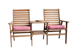 Jack and Jill Garden Chair Royalty Free Stock Photo
