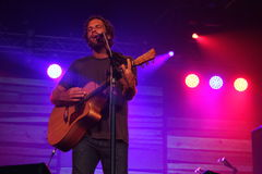 Jack Johnson performing at Somersault Festival 2014 Royalty Free Stock Images