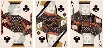 Jack, König, Königin des Klumpenvektors stock abbildung