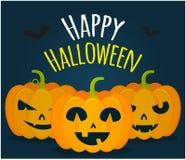 Jack-Kürbise glückliches Halloween Lizenzfreie Stockbilder