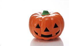 Jack lantern. The ornament of the Japanese pumpkin photoed in the white back Stock Image