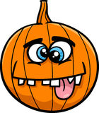 Jack lantern cartoon. Cartoon Illustration of Funny Halloween Pumpkin or Jack Lantern vector illustration
