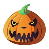 Jack Lantern Haloween. Vector Illustration Stock Photos