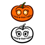 Jack Lantern Pumpkin Photos libres de droits