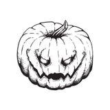 Jack Lantern Pumpkin Halloween Illustration stock afbeeldingen