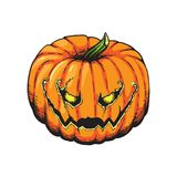 Jack Lantern Pumpkin Halloween Illustration Imagem de Stock