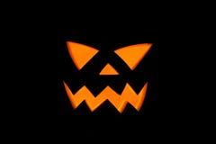 Jack& x27; Lanterna de O, detalhe da melancia do Dia das Bruxas na noite assustador Foto de Stock Royalty Free