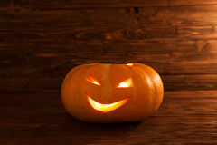 jack latarnia o Jeden Halloween bania Zdjęcia Royalty Free