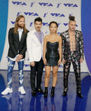 Jack Lawless, Joe Jonas, JinJoo Lee and Cole Whittle of DNCE Royalty Free Stock Photo