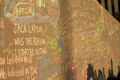 Jack Layton - μνημείο κιμωλίας. Στοκ φωτογραφία με δικαίωμα ελεύθερης χρήσης