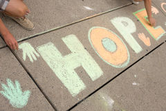 Jack Layton - Chalk Memorial. Stock Photography