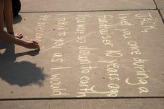 Jack Layton - Chalk Memorial. Royalty Free Stock Images