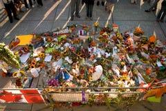 Jack Layton - Chalk Memorial. Stock Image