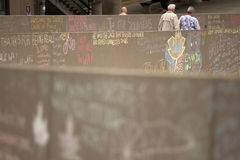 Jack Layton - Chalk Memorial. Stock Photos