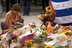 Jack Layton - Chalk Memorial. Stock Images
