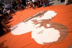Jack Layton - mémorial de craie. Photos libres de droits